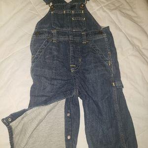 Baby Gap fleece lined overalls